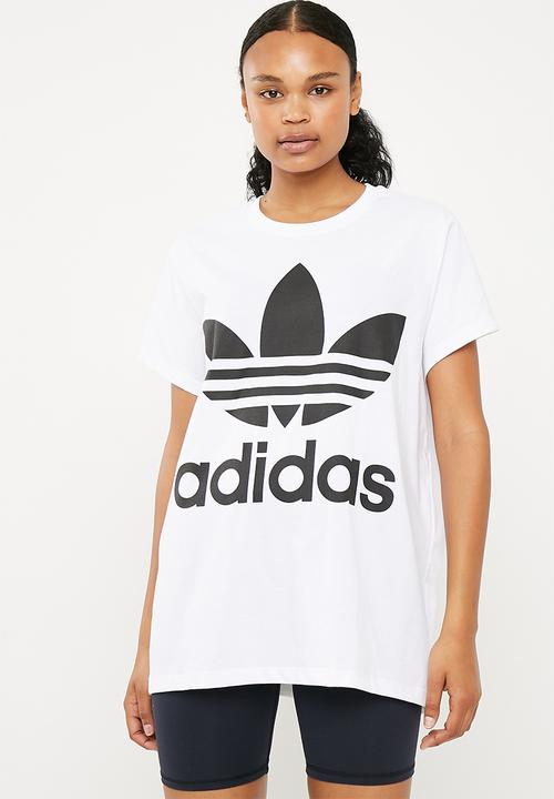 buy popular 880e3 fd7f7 adidas Originals - Boxy trefoil tee - white   black