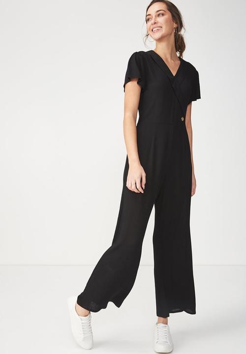 9e5c6f56f05 Woven jordy cap sleeve jumpsuit - black Cotton On Jumpsuits ...