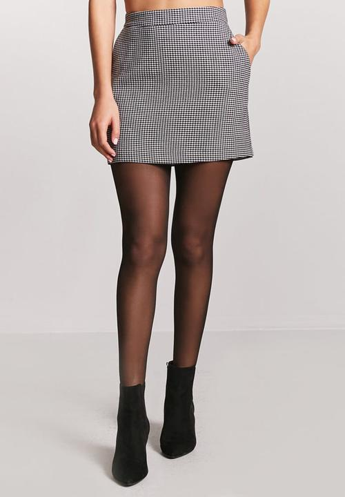 33b0f6de53 Houndstooth Mini Skirt Grey