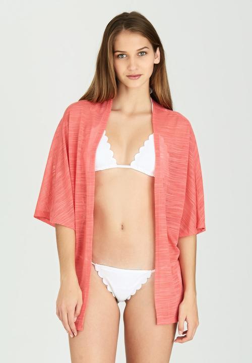 8524ff4feb32a Chiffon Kimono Coral O Neill Kaftans   Cover Ups