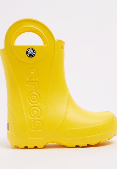 72700da540784e Handle It Rain Boot Yellow Crocs Shoes