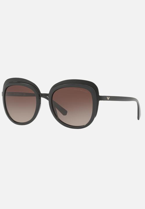 6e82d73080cb Emporio Armani Oversized Sunglasses Brown Emporio Armani Eyewear ...