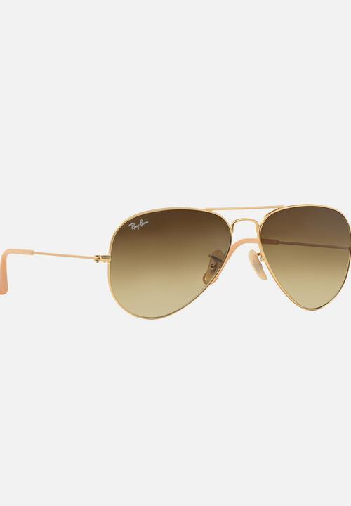 6cfa4a368 Ray-Ban Aviator Gradient Sunglasses Gold Ray-Ban Eyewear ...