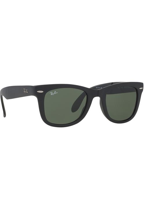 91010ba678 Wayfarer Folding Sunglasses Black Ray-Ban Eyewear