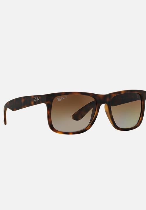 2c436976cb Ray-Ban Classic Justin Sunglasses Dark Brown Ray-Ban Eyewear ...