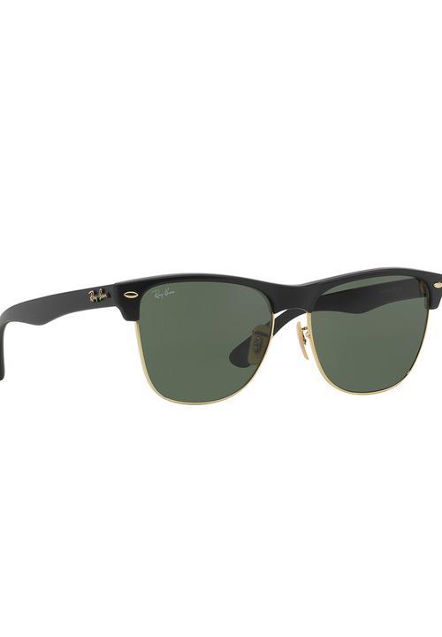 fa7419e361f4f Ray-Ban Clubmaster Oversized Sunglasses Black Ray-Ban Eyewear ...