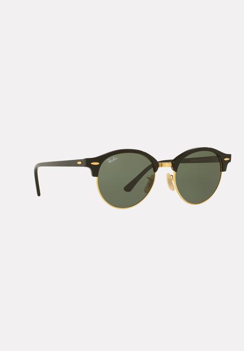 c3bc4d34b895b5 Club Round 51mm Sunglasses Black Ray-Ban Eyewear