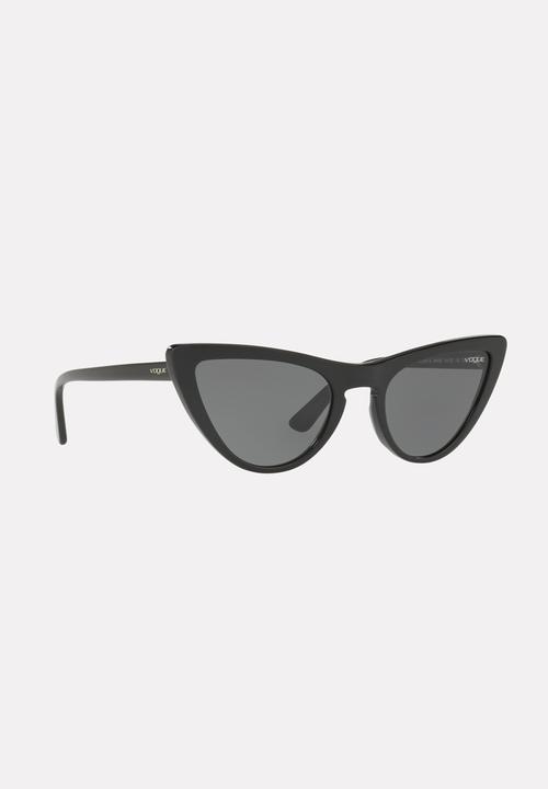 0946aa7b581 Vogue Gigi Hadid Cat-eye Sunglasses Black Vogue Eyewear ...