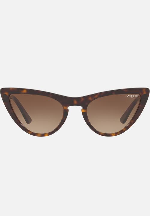 1e42fad21e Vogue Gigi Hadid Cat-eye Sunglasses Brown Vogue Eyewear ...