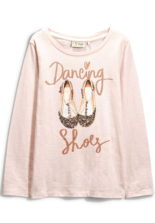 bb4c12734469 Pink Sparkly Ballet Shoes T-Shirt Pale Pink Next Tops