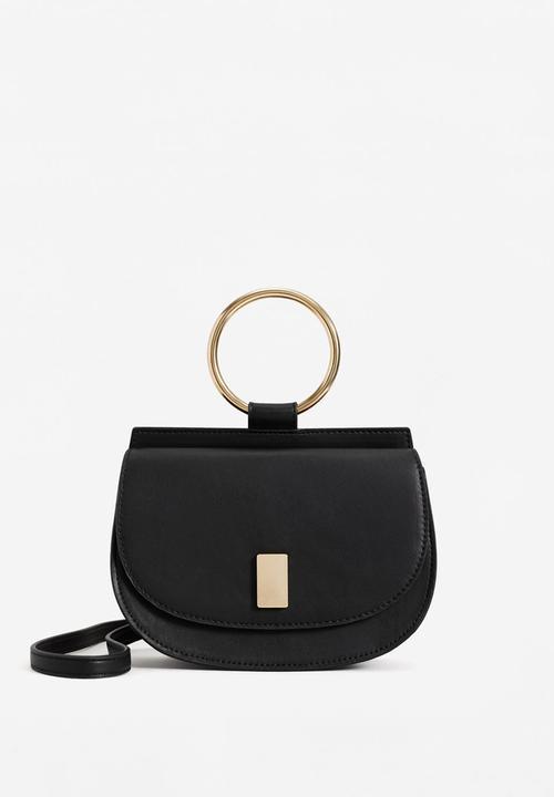879e72c6ad Metallic Handle Shoulder Bag Black MANGO Bags   Purses
