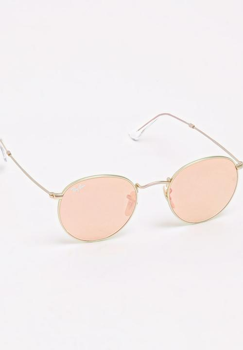 3e509f9d30d0b Ray-Ban Round Metal Sunglasses Rose gold Ray-Ban Eyewear ...