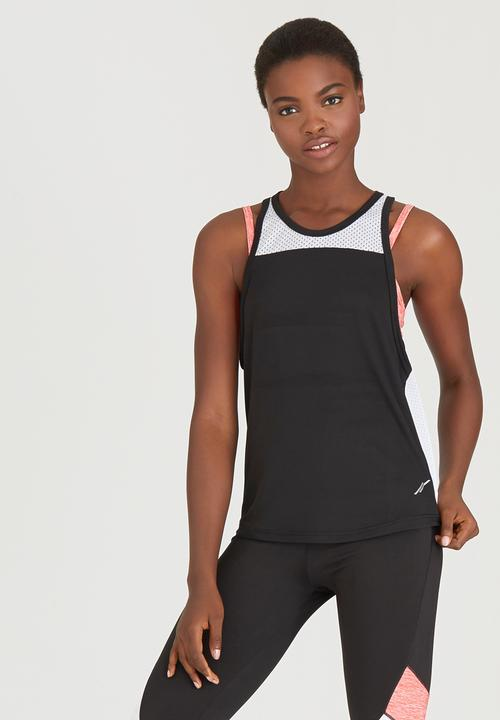 989340bc960b0 Double Layer Vest with Bra Coral Lithe T-Shirts