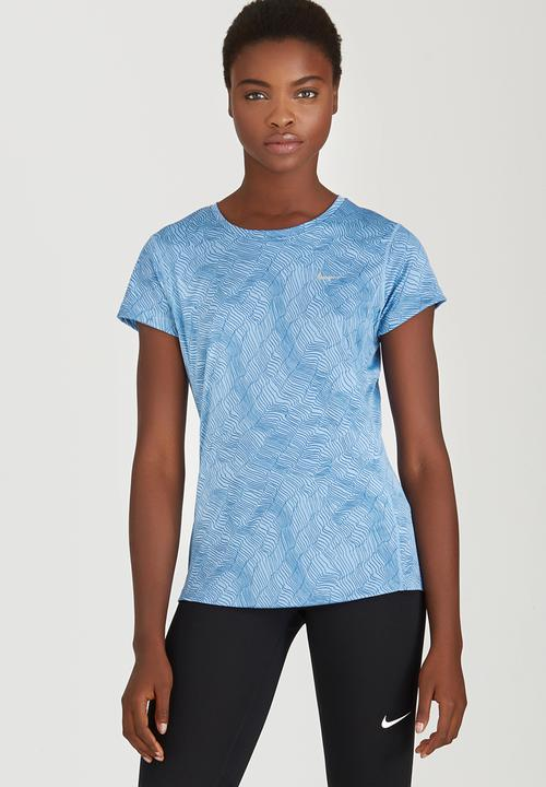 sports shoes 964d3 fb1bf Nike - Nike Dry Miler Running Printed Crew Tee Pale Blue