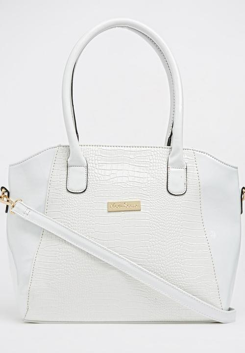 a2723042e6642 Croc Print Tote Bag White Moda Scapa Bags   Purses