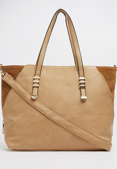 929f2729fd56b Colourblock Shopper Bag Camel Moda Scapa Bags   Purses