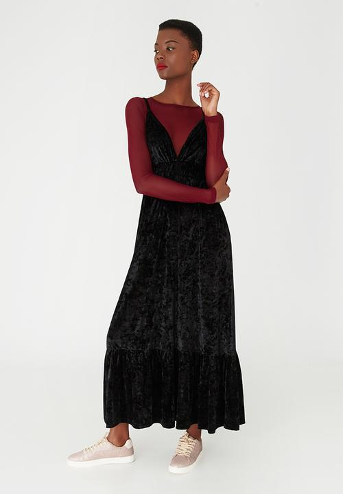 f3a96d4a82a Tier Maxi Dress Black STYLE REPUBLIC Casual