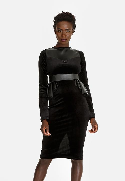 2e460b226002 Nandi Peplum dress Black Sober Formal   Superbalist.com