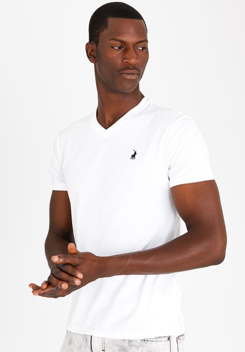 2bef826bcf3 Basic V-neck short sleeve tee - white POLO T-Shirts   Vests ...