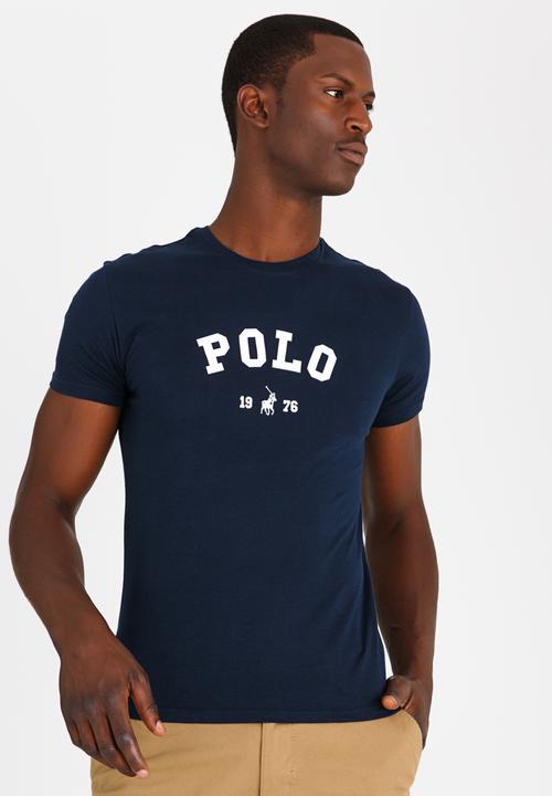249ba038 Classic printed tee - navy POLO T-Shirts & Vests | Superbalist.com