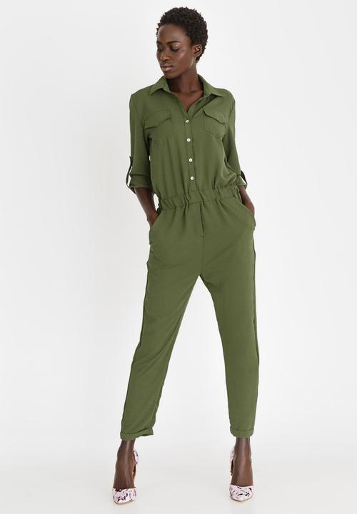 d8db6ce332bc Utility Jumpsuit Khaki Green STYLE REPUBLIC Jumpsuits   Playsuits ...