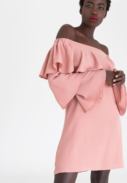 Bardot Frill Dress Pale Pink STYLE REPUBLIC Formal  a464d52ce