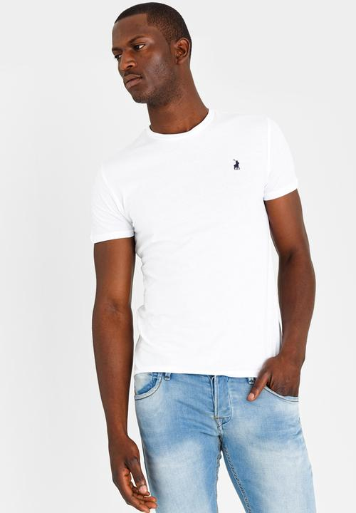 56a6bcd32acd Crew Neck T Shirt White POLO T-Shirts   Vests