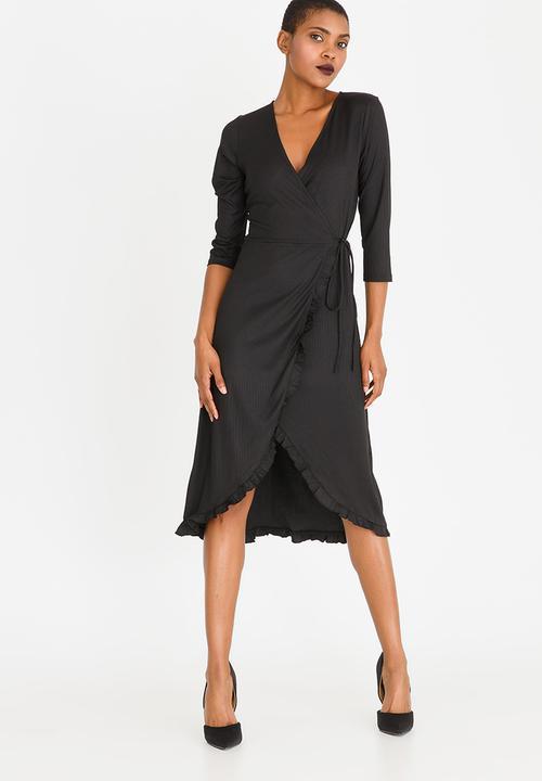 4b764836dec3 3/4 Sleeve Wrap Dress Black CRAVE Formal | Superbalist.com
