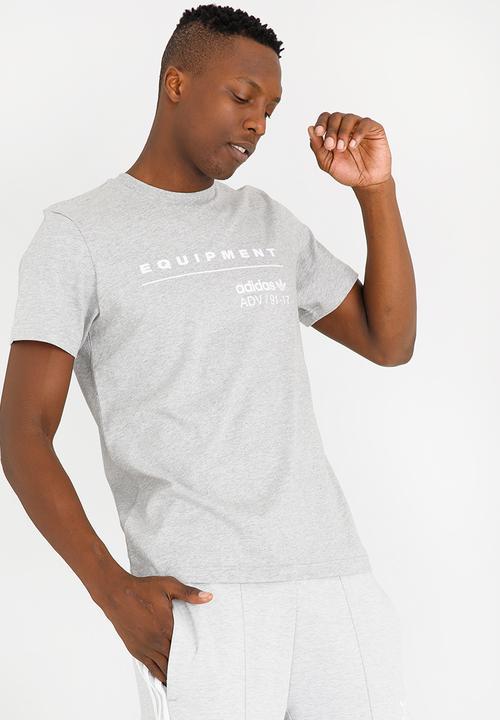9d5312c5 PDX Classic Tee MGREYH/WHITE Grey adidas Originals T-Shirts ...