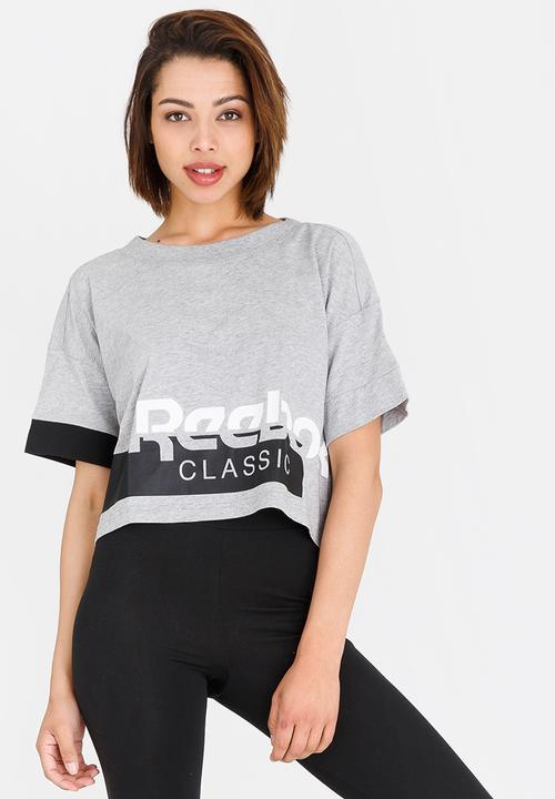 cb4bdcd132d Cropped Tee Grey Reebok Classic T-Shirts