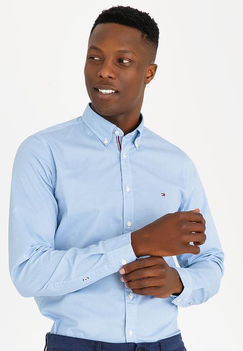 8909b3cb Tommy Hilfiger - Slim Stretch Hexagon Print Shirt Blue. Sold Out!