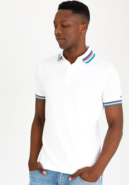 c531d95c0 Tipped Polo Golfer White Tommy Hilfiger T-Shirts & Vests ...