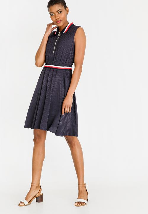 b8e152bea8 Koko Jacquard Dress Navy Tommy Hilfiger Casual