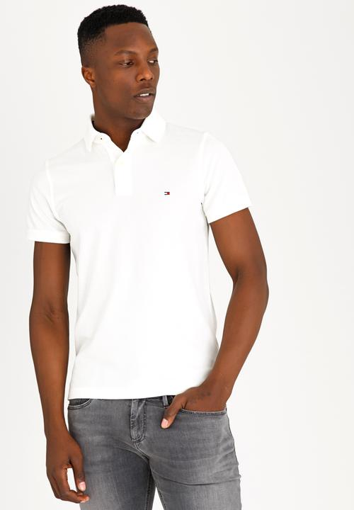 2358ac82 Slim Fit Polo Golfer White Tommy Hilfiger T-Shirts & Vests ...
