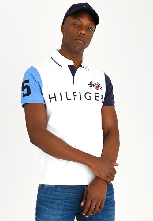0ed4cd829ad262 Colour Block Badge Slim Polo White Tommy Hilfiger T-Shirts   Vests ...