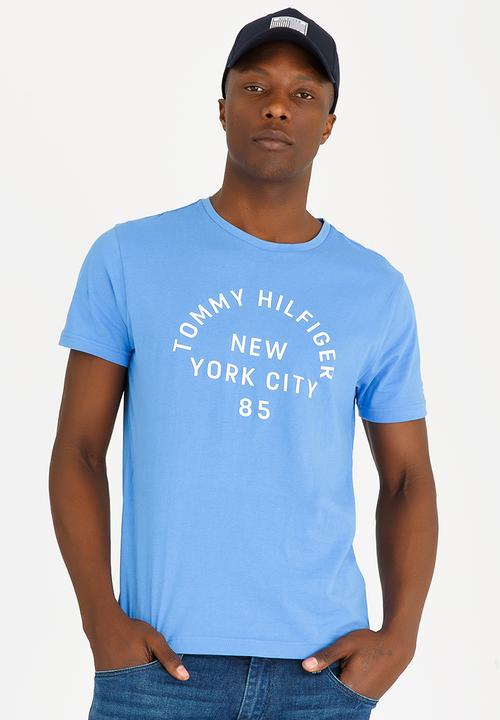 0985e204 Multi Layered Logo Graphic Tee Blue Tommy Hilfiger T-Shirts & Vests ...