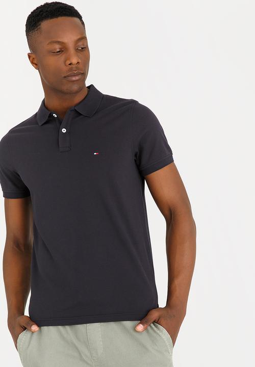 f025f6cbe Tipped Polo Golfer Black Tommy Hilfiger T-Shirts & Vests ...