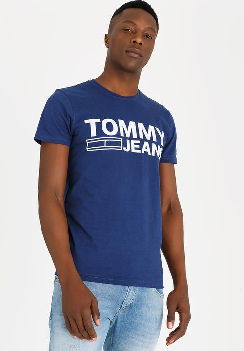 24b9d7141a Tommy Jeans Basic T-shirt Blue Tommy Hilfiger T-Shirts & Vests ...