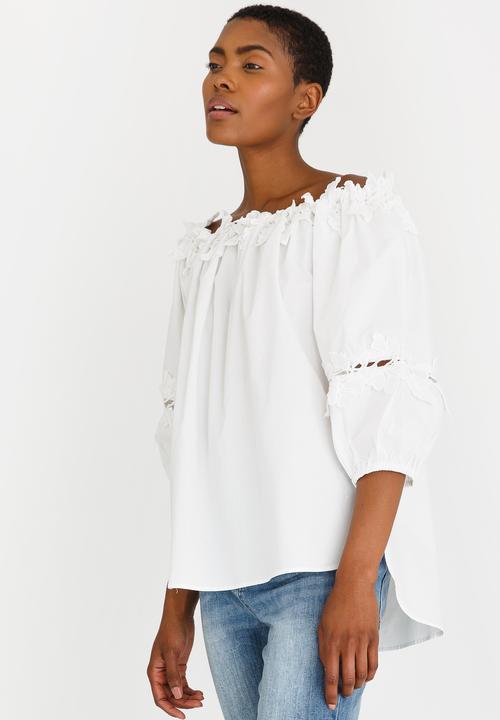 5aabb96f112 Bardot Top with Crochet White edit Blouses | Superbalist.com