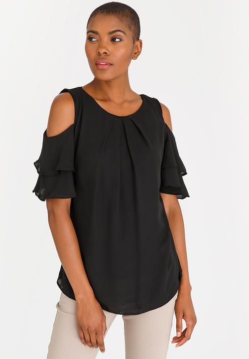 1a75b722 Frill Sleeve Blouse Black edit Blouses | Superbalist.com