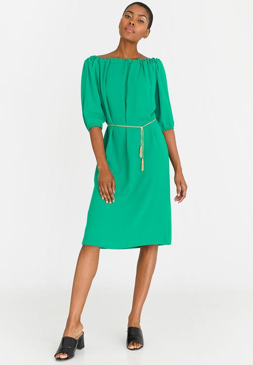 4fde2104bbdd Bardot Shift Dress Green edit Casual