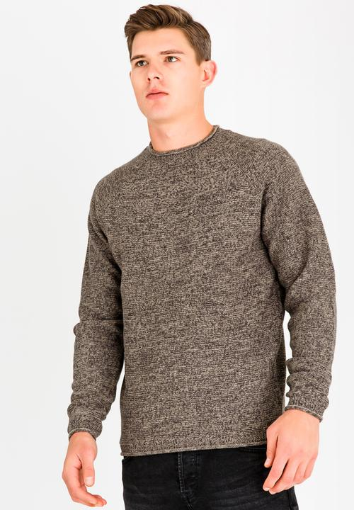 c3baf83dad2 Brando Crew Neck Jumper Brown/Black