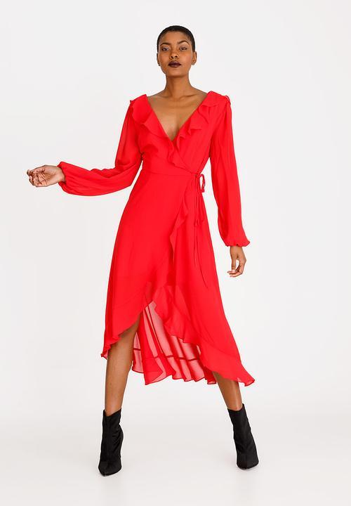 2ae3513de093 Ruffle Dress Red Forever21 Formal | Superbalist.com