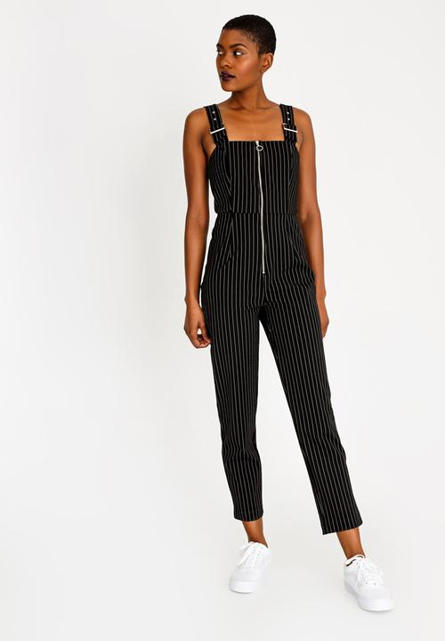 c935a37c4cd Pinstriped Jumpsuit Black and White Forever21 Formal