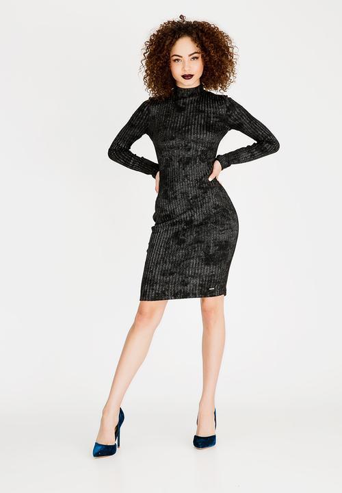 9d0443b7cfe9 Harlow Turtleneck Midi Dress Black Sissy Boy Formal