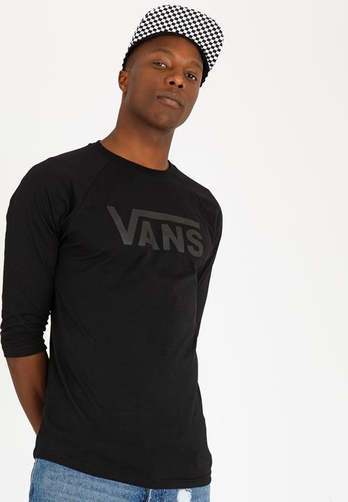 f8afa8e482 Vans Classic Raglan Tee Black Vans T-Shirts   Vests