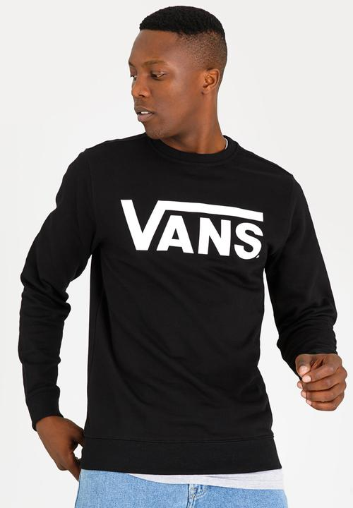 fcaf4f176c Vans Classic Crew Neck Sweatshirt Black and White Vans Hoodies ...