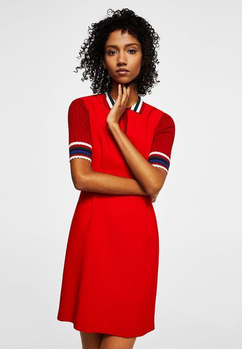 862f06c72984 Ani V-neckline Dress - Red MANGO Formal | Superbalist.com