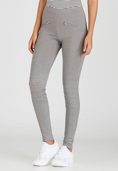 cea3e27a53e4b Biker Leggings Grey c(inch) Trousers | Superbalist.com
