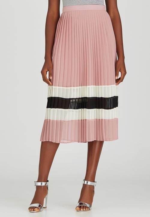 ce4e86473f Pleated Midi Skirt Pale Pink STYLE REPUBLIC Skirts | Superbalist.com